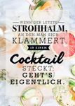 Postkarte A6 +++ LUSTIG +++ DER LETZTE STROHHALM