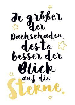 Postkarte A6 +++ LUSTIG +++ JE GRÖSSER DER DACHSCHADEN GOLD
