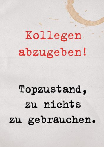 Postkarten Online Shop Lustig Sprüche Mann Frau Büro Cartoon