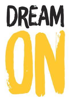 Postkarte A6 +++ LUSTIG +++ DREAM ON