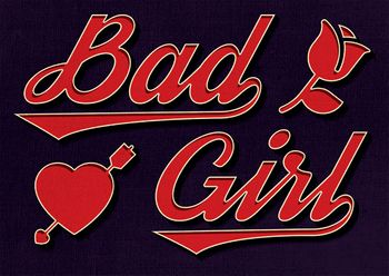 Postkarte A6 +++ LUSTIG +++ BAD GIRL