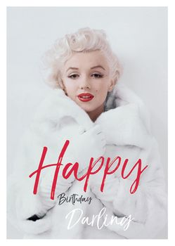 Postkarte A6 +++ LUSTIG +++ MARILYN MONROE HAPPY BIRTHDAY DARLING