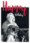 Postkarte A6 +++ LUSTIG +++ MARILYN MONROE HAPPY BIRTHDAY GUITAR
