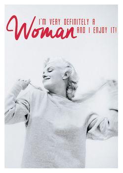 Postkarte A6 +++ LUSTIG +++ MARILYN MONROE WOMAN