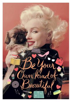 Postkarte A6 +++ LUSTIG +++ MARILYN MONROE BE YOUR OWN KIND