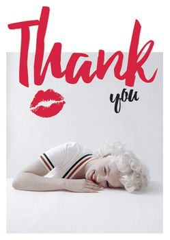 Postkarte A6 +++ LUSTIG +++ MARILYN MONROE THANK YOU
