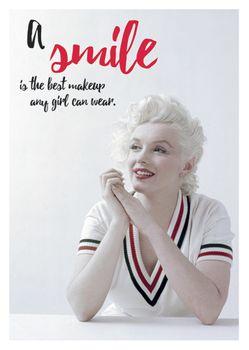 Postkarte A6 +++ LUSTIG +++ MARILYN MONROE A SMILE