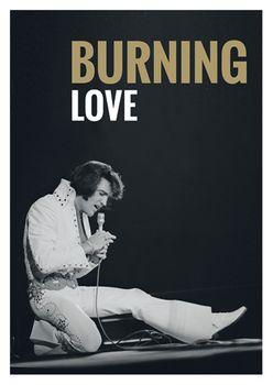 Postkarte A6 +++ LUSTIG +++ ELVIS PRESLEY BURNING LOVE