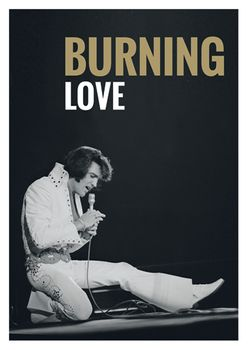 Postkarte A6 +++ LUSTIG +++ ELVIS PRESLEY BURNING LOVE