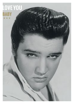 Postkarte A6 +++ LUSTIG +++ ELVIS PRESLEY LOVE YOU BABY