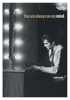 Postkarte A6 +++ LUSTIG +++ ELVIS PRESLEY YOU ARE ALWAYS ON MY MIND