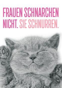 Postkarte A6 +++ LUSTIG +++ FRAUEN SCHNARCHEN NICHT..
