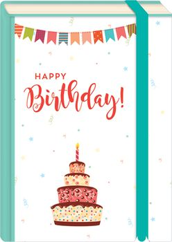 Briefpostkarten Fold & Zip A6 +++ LUSTIG +++ HAPPY BIRTHDAY TORTE