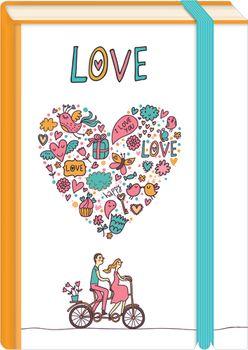 Briefpostkarten Fold & Zip A6 +++ LUSTIG +++ LOVE TANDEM
