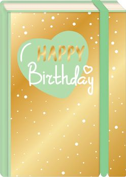 Briefpostkarten Fold & Zip A6 +++ LUSTIG +++ HAPPY BIRTHDAY HERZ GOLD