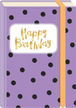 Briefpostkarten Fold & Zip A6 +++ LUSTIG +++ HAPPY BIRTHDAY PUNKTE GOLD