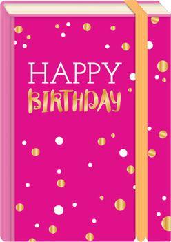 Briefpostkarten Fold & Zip A6 +++ LUSTIG +++ HAPPY BIRTHDAY PINK GOLD