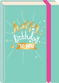 Briefpostkarten Fold & Zip A6 +++ LUSTIG +++ HAPPY BIRTHDAY TO YOU GOLD