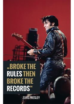 Magnet 8,5x5,5 cm +++ LUSTIG +++ ELVIS PRESLEY BROKE THE RULES  - MAGNETE