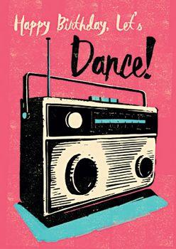 Postkarte A6 +++ LUSTIG +++ BIRTHDAY DANCE