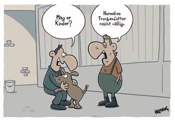 Postkarte A6 +++ CARTOON +++ MAG ER KINDER?