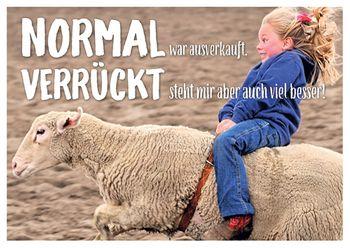 Postkarte A6 +++ LUSTIG +++ NORMAL WAR AUSVERKAUFT