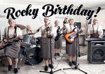 Postkarte A6 +++ LUSTIG +++ ROCKY BIRTHDAY!
