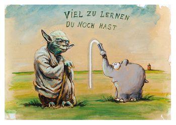 Postkarte A6 +++ OTTO +++ VIEL ZU LERNEN DU NOCH HAST