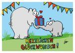 Postkarte A6 +++ OTTO +++ HERZLICHEN GLÜCKWUNSCH PAKET
