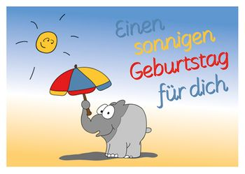 Postkarte A6 +++ OTTO +++ EINEN SONNIGEN GEBURTSTAG FÜR DICH
