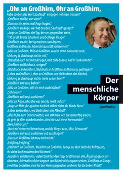 Postkarte A6 +++ OTTO +++ DER MENSCHLICHE KÖRPER