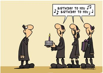 Postkarte A6 +++ CARTOON +++ BIRTHDAY TO YOU