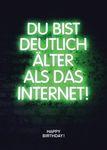 Postkarte A6 +++ NEON LOVE +++ DEUTLICH ÄLTER ALS DAS INTERNET