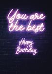 Postkarte A6 +++ NEON LOVE +++ YOU ARE THE BEST