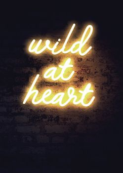 Postkarte A6 +++ NEON LOVE +++ WILD AT HEART