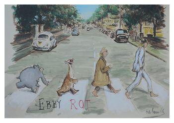Postkarte A6 +++ OTTO +++ EBBY ROT