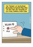 Postkarte A6 +++ LUSTIG +++ WLAN AUS
