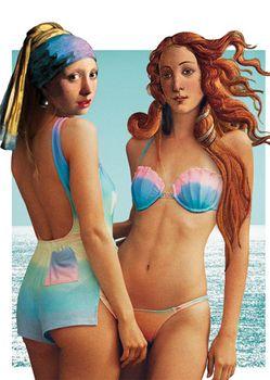 Postkarte A6 +++ JUNIQE +++ BEACH GIRLS