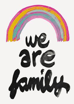 Postkarte A6 +++ JUNIQE +++ WE ARE FAMILY