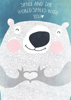Postkarte A6 +++ JUNIQE +++ SMILE