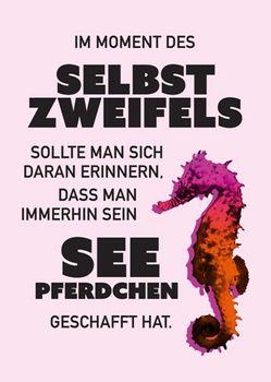 Postkarte A6 +++ LUSTIG +++ SEIN SEEPFERDCHEN GESCHAFFT HAT