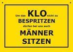Postkarte Kunststoff +++ VERBOTENE SCHILDER +++ KLO