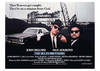 Postkarte A6 +++ SCHWARZ-WEISS +++ THE BLUES BROTHERS