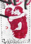 Postkarte A6 +++ LUSTIG +++ KISSING COUPLE