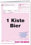 Grußkarte 11,5x16 cm +++ LUSTIG +++ 1 KISTE BIER