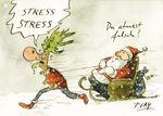 Postkarte A6 +++ WEIHNACHTEN +++ STRESS STRESS