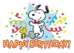 Postkarte A6 +++ SNOOPY / PEANUTS +++ HAPPY BIRTHDAY - SNOOPY AND WOODSTOCK