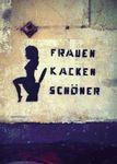 Postkarte A6 +++ LUSTIG +++ FRAUEN KACKEN SCHÖNER