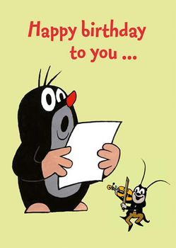 Postkarte A6 +++ DER KLEINE MAULWURF +++ MW HAPPY BIRTHDAY TO YOU ...