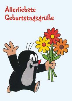 Postkarte A6 +++ DER KLEINE MAULWURF +++ MW ALLERLIEBSTE GEBURTSTAGSGRÜSSE